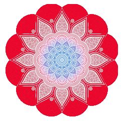 czerwona mandala