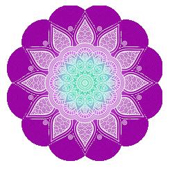 fioletowa mandala