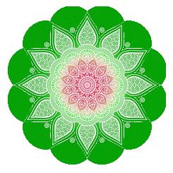 zielona mandala